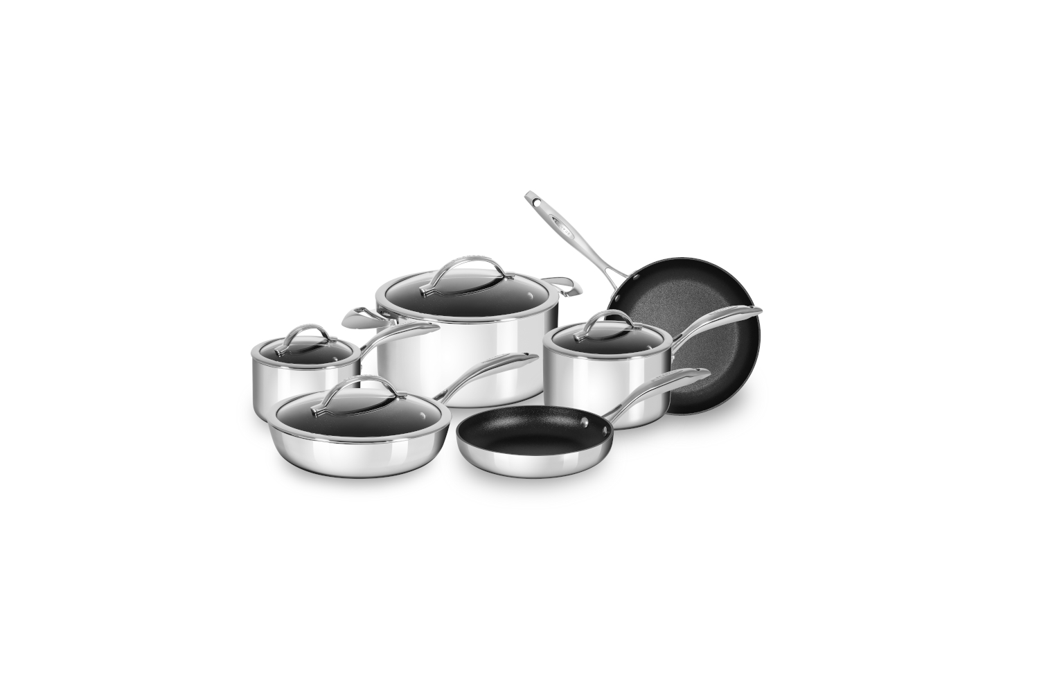 Scanpan Haptiq STRATANIUM+ 10 Piece Nonstick Cookware Set