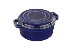 Staub Cast Iron 7 qt. Braise & Grill - Dark Blue