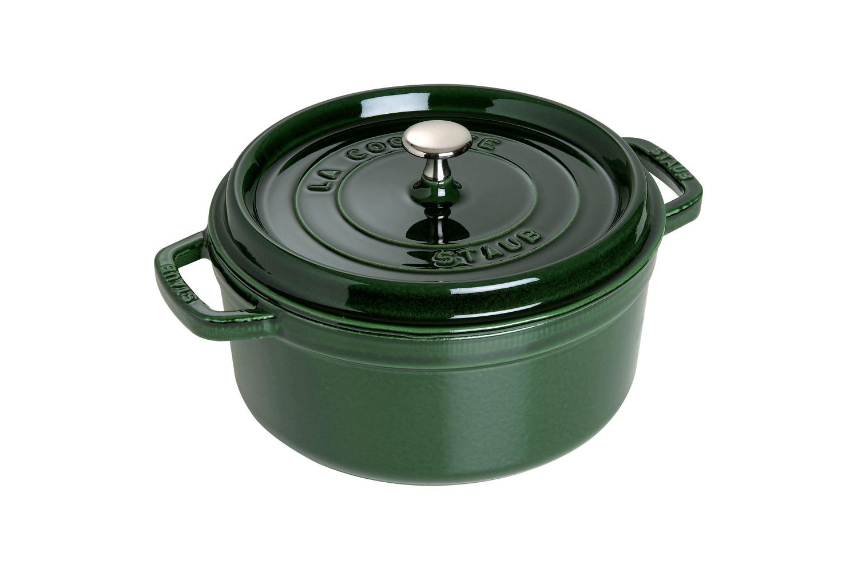 Staub Cast Iron 5 1/2 qt. Round Cocotte - Basil