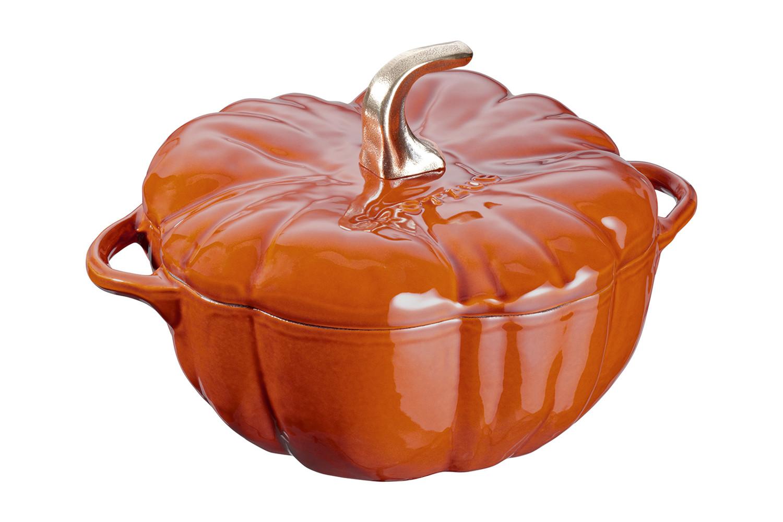 Staub Cast Iron 3 1/2 qt. Pumpkin Cocotte - Burnt Orange