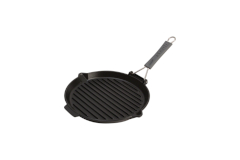 Staub Cast Iron 10 inch Round Folding Grill - Matte Black