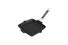 Staub Cast Iron 9 1/2 inch Square Folding Grill - Matte Black