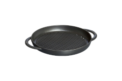 Staub Cast Iron 10 inch Pure Grill - Matte Black