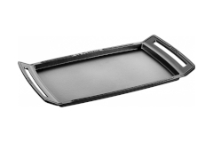 Staub Cast Iron 18.5 X 9.8 inch Double Burner Griddle/Plancha - Matte Black
