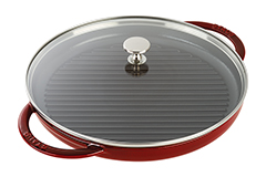 Staub Cast Iron 12 inch Steam Grill - Grenadine