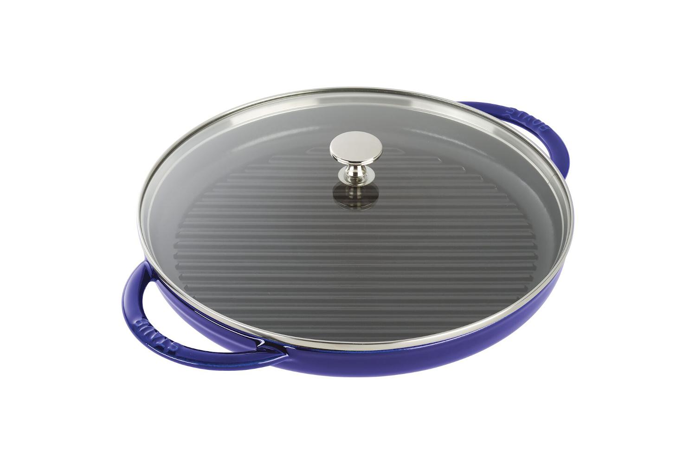 Staub Cast Iron 12 inch Steam Grill - Dark Blue