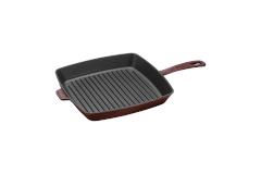 Staub Cast Iron American Square Grill Pan 10 x 10 inch - Grenadine