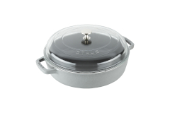 Staub Cast Iron 4 qt. Universal Deluxe Pan with Glass Lid - Graphite Grey