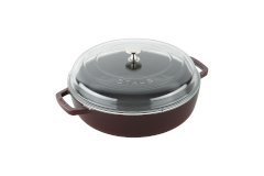 Staub Cast Iron 4 qt. Universal Deluxe Pan with Glass Lid - Grenadine