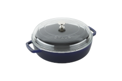 Staub Cast Iron 4 qt. Universal Deluxe Pan with Glass Lid - Dark Blue