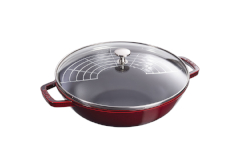 Staub Cast Iron 4 1/2 qt. Perfect Pan - Grenadine