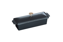 Staub Cast Iron 1 1/2 qt. Large Rectangular Terrine w/Lid - Matte Black