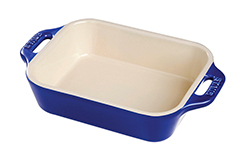 Staub Ceramic 2 Piece Rectangular Baking Dish Set - Dark Blue
