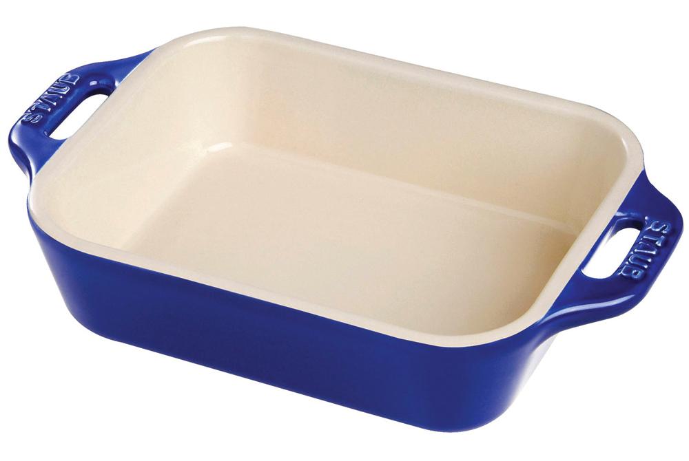 Staub Ceramic 2 Piece Rectangular Baking Dish Set - Dark Blue