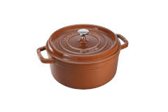 Staub Cast Iron 4 qt. Round Cocotte - Burnt Orange w/Stainless Steel Knob