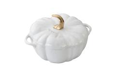 Staub Cast Iron 3 1/2 qt. Pumpkin Cocotte - White
