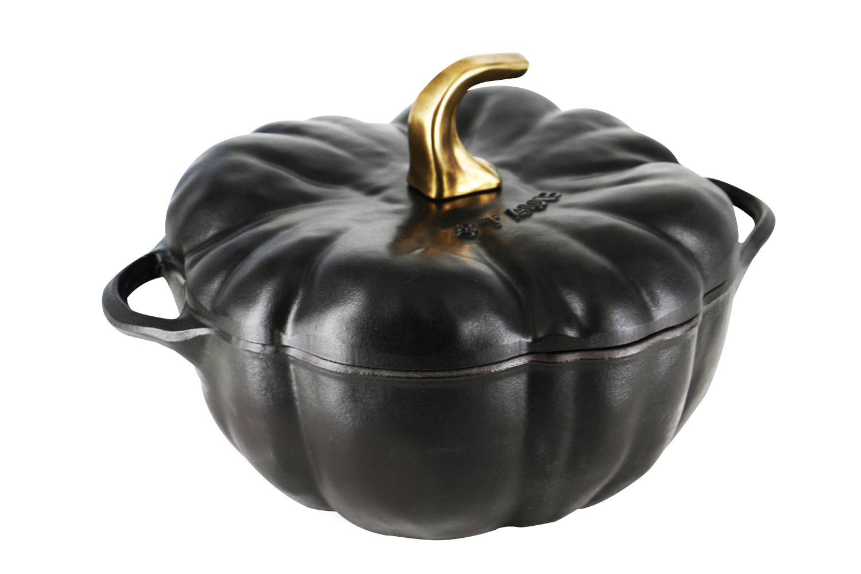Staub Cast Iron 3 1/2 qt. Pumpkin Cocotte - Black