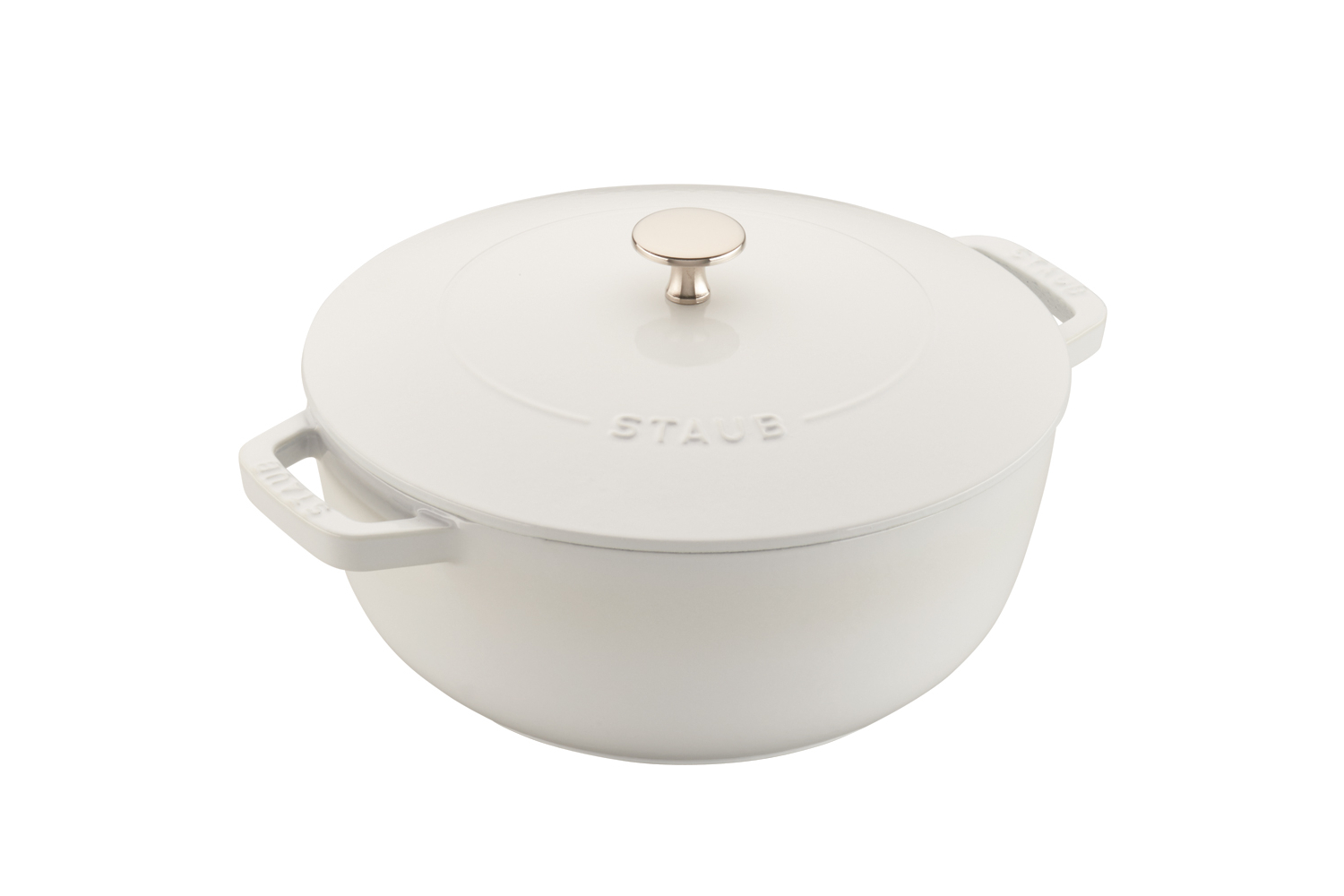 Staub Cast Iron 3 3/4 qt. Essential French Oven - White