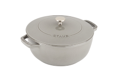 Staub Cast Iron 3 3/4 qt. Essential French Oven - Graphite Grey