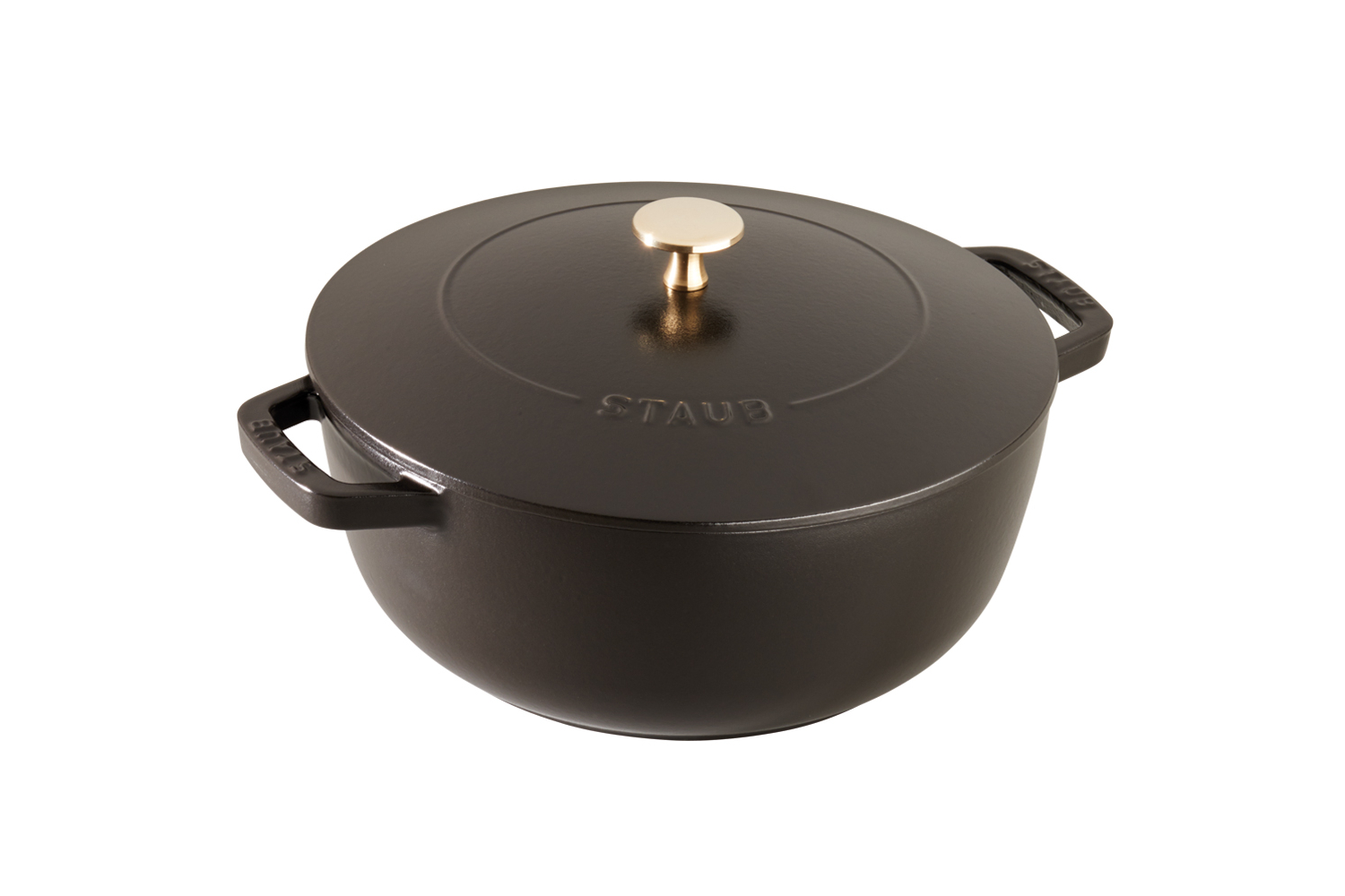 Staub Cast Iron 3 3/4 qt. Essential French Oven - Matte Black