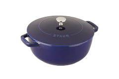 Staub Cast Iron 3 3/4 qt. Essential French Oven - Dark Blue