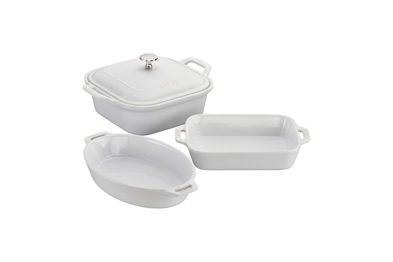 Staub Ceramic 4 Piece Mixed Baking Set - White