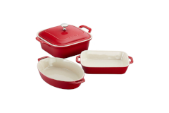 Staub Ceramic 4 Piece Mixed Baking Set - Cherry