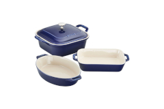 Staub Ceramic 4 Piece Mixed Baking Set - Dark Blue