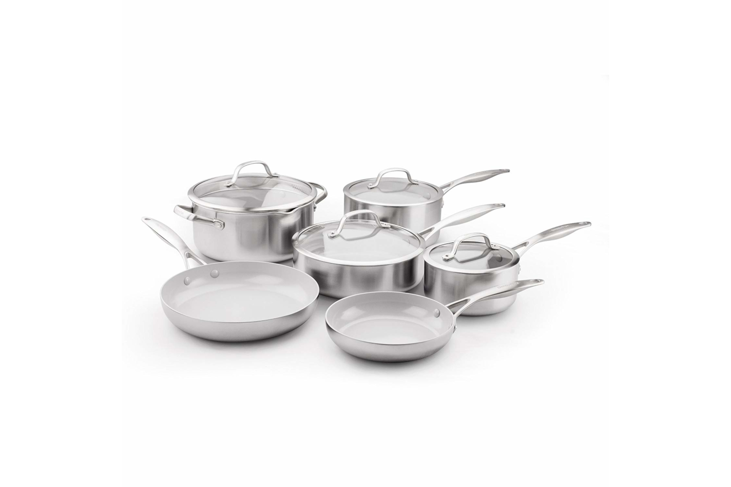Greenpan Venice Pro Stainless Steel 10 Piece Ceramic Nonstick Cookware Set
