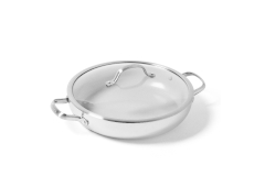 Greenpan Venice Pro Stainless Steel 12 inch Ceramic Nonstick Everyday Pan w/Lid