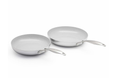 Greenpan Venice Pro Stainless Steel 10 & 12 inch Ceramic Nonstick Fry Pan Set