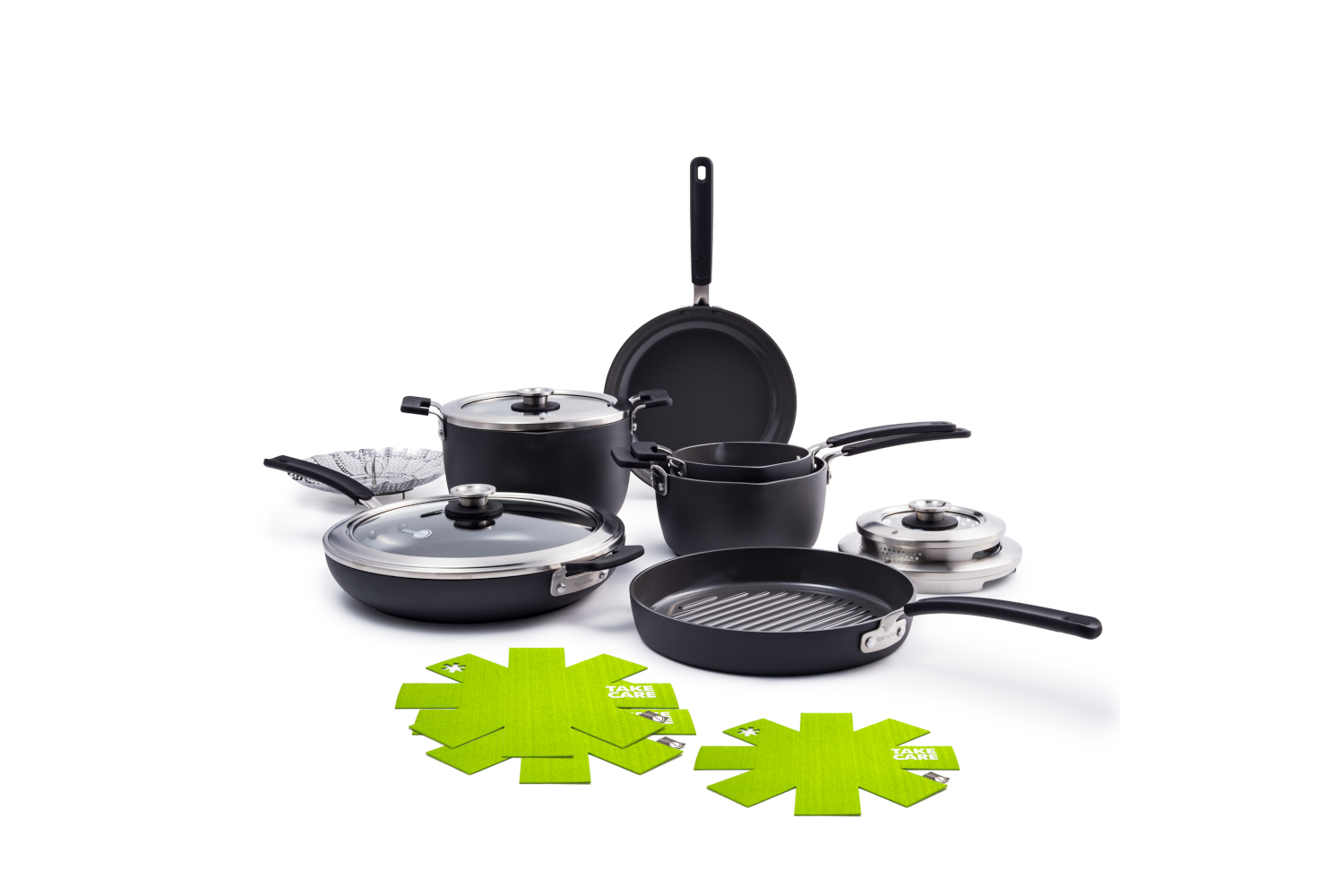 Greenpan Levels Hard Anodized 11 Piece Stackable Ceramic Nonstick Cookware Set