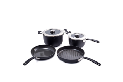 Greenpan Levels Hard Anodized 6 Piece Stackable Ceramic Nonstick Cookware Set