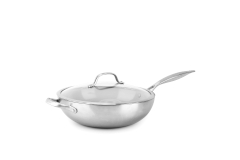 Greenpan Venice Pro Stainless Steel 12 inch Ceramic Nonstick Wok w/Lid