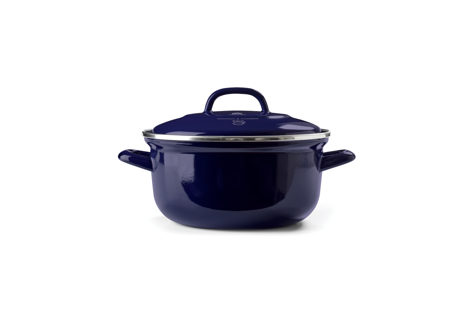 BK Enameled Steel 3 1/2 Quart Dutch Oven - Blue