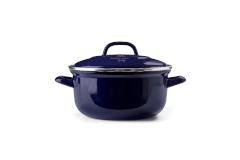 BK Enameled Steel 5 1/2 Quart Dutch Oven - Blue