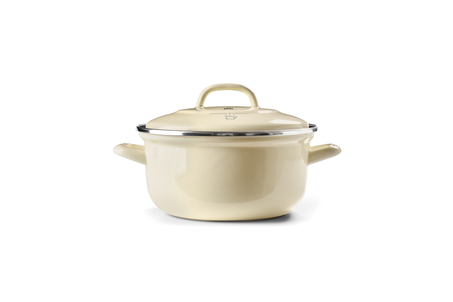 BK Enameled Steel 3 1/2 Quart Dutch Oven - Cream