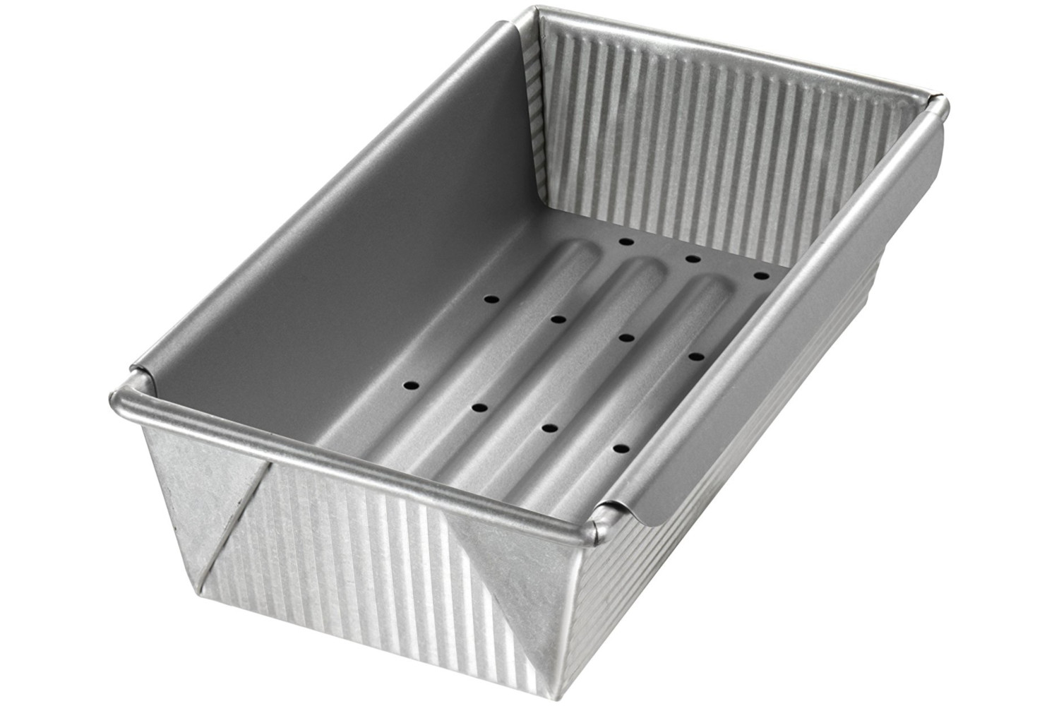 USA Pan Bakeware 10 x 5 x 3 inch Meat Loaf Pan w/Insert