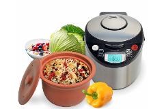 VitaClay 4 Quart Oval Organic Multi-Cooker