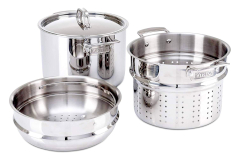 Viking 3-Ply Stainless Steel 8 qt. Multi-Cooker w/Steamer Basket