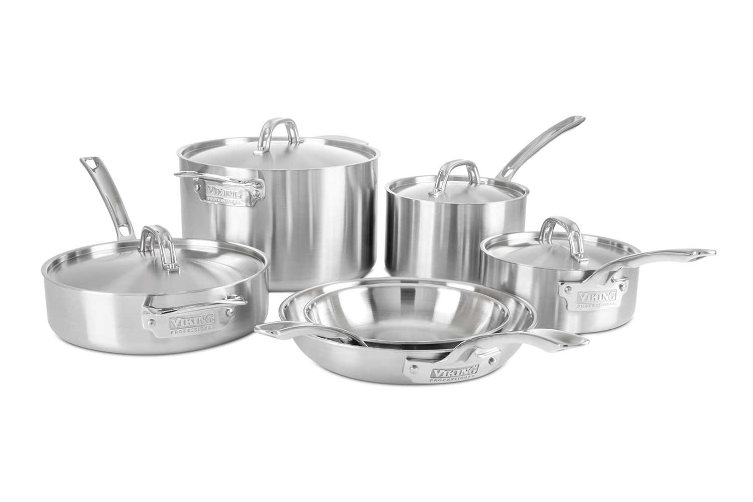 Viking Professional 5 Ply Stainless Steel 10 Piece Cookware Set