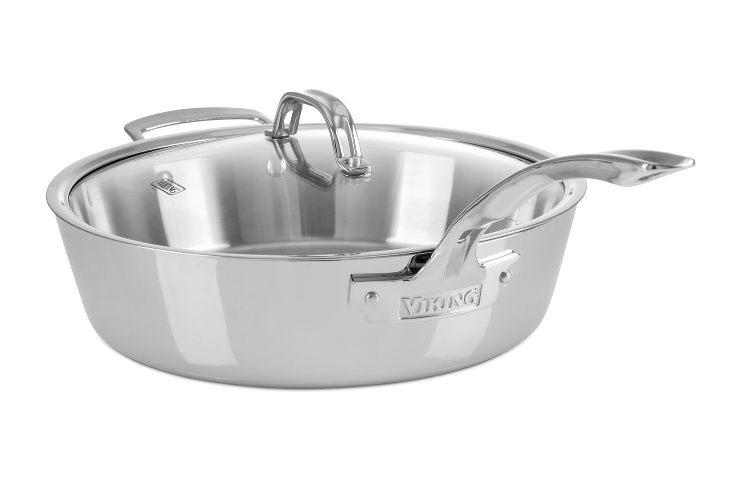 Viking Contemporary 3 Ply Stainless Steel Saute Pans