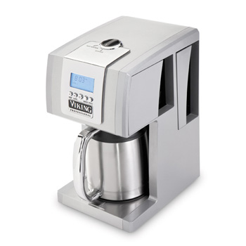 Viking 12-Cup Programmable Coffee Machine, Metallic Silver