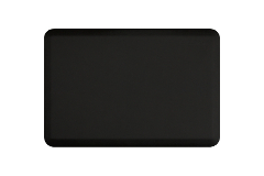 Wellness Anti-Fatigue Kitchen Mat - 3 x 2 ft. - Black