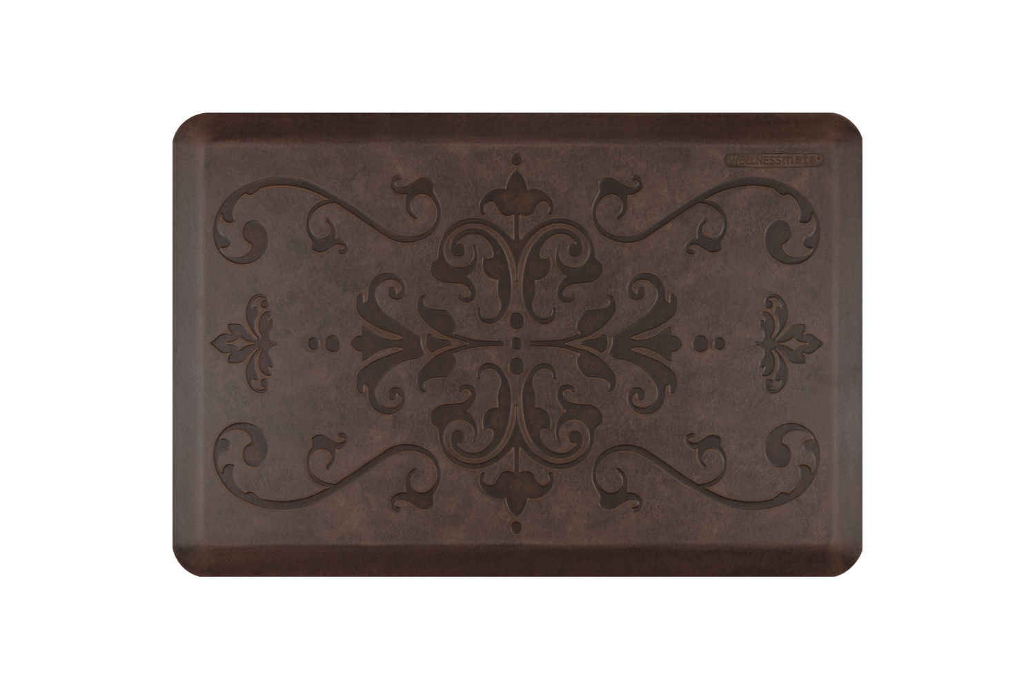 Wellness Anti-Fatigue Kitchen Mat, Entwine - 3 x 2 ft. - Antique Dark