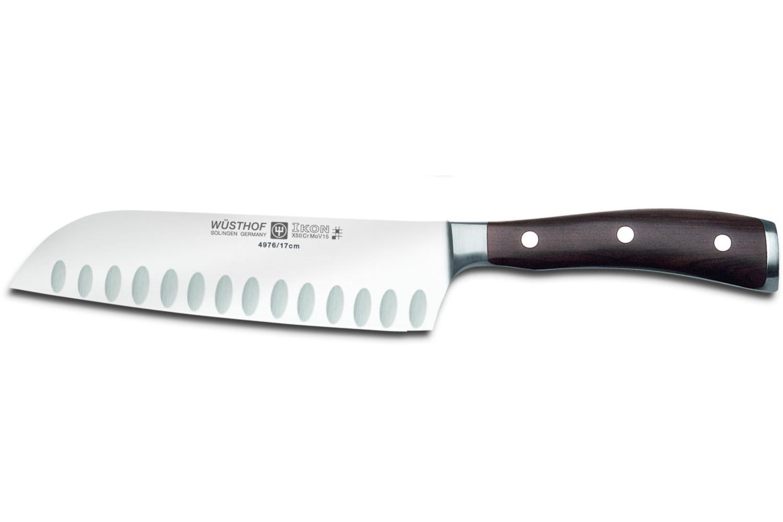 Wusthof Ikon Blackwood 7 inch Santoku Knife