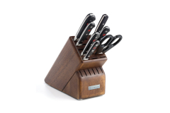 Wusthof Classic Rebrand 8 Piece Knife Block Set Walnut