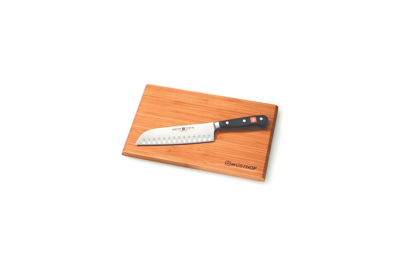 Wusthof Classic 7 inch Santoku Knife & Cutting Board Set