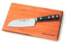 Wusthof Classic 5 inch Hollow Edge Santoku Knife & Cutting Board Set