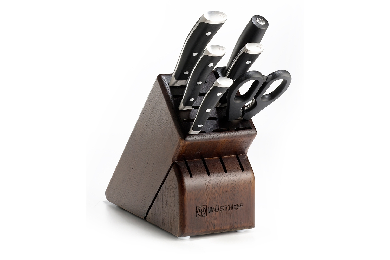 Wusthof Classic Ikon 7 Piece Walnut Knife Block Set